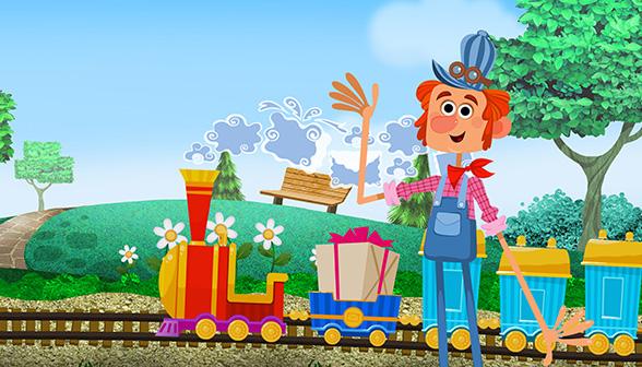 Dibujos animados de trenes. El tren del correo