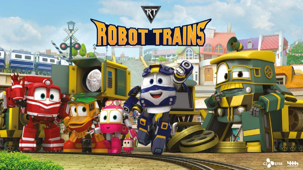 Dibujos animados de trenes. Robot Trains